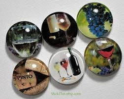 Gift, Magnet Wine Glass Charms Image
