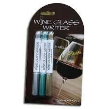 Gift, Wine Glass Writer Metallic