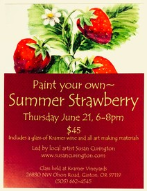 Painting with Susan Curington Strawberry